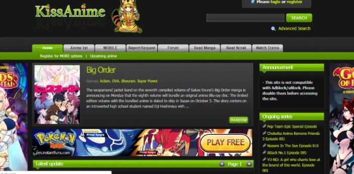 kissanime.ru homepage