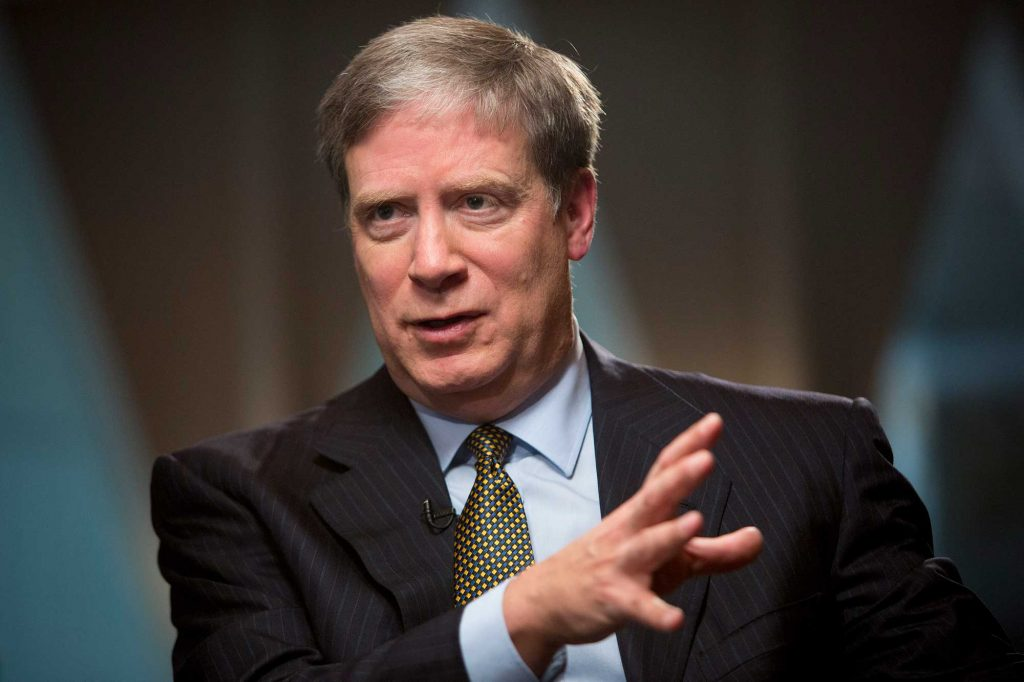 Stanley Druckenmiller at a press conference