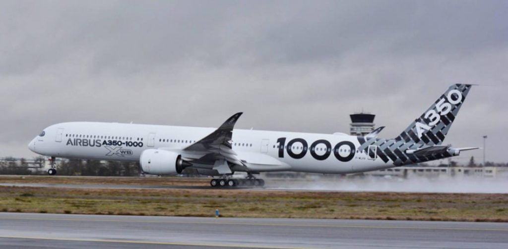 Airbus plane taking off