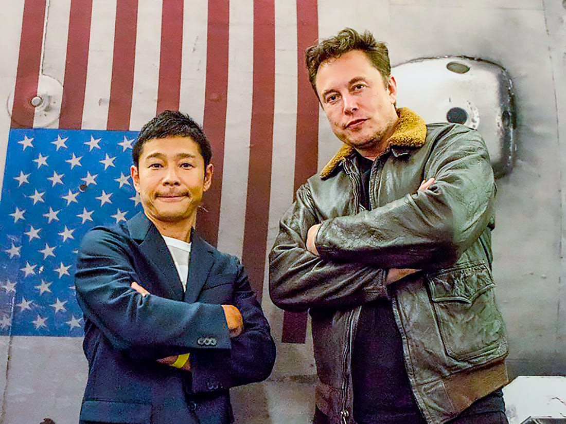 Yusaku Maezawa amd Elon Musk