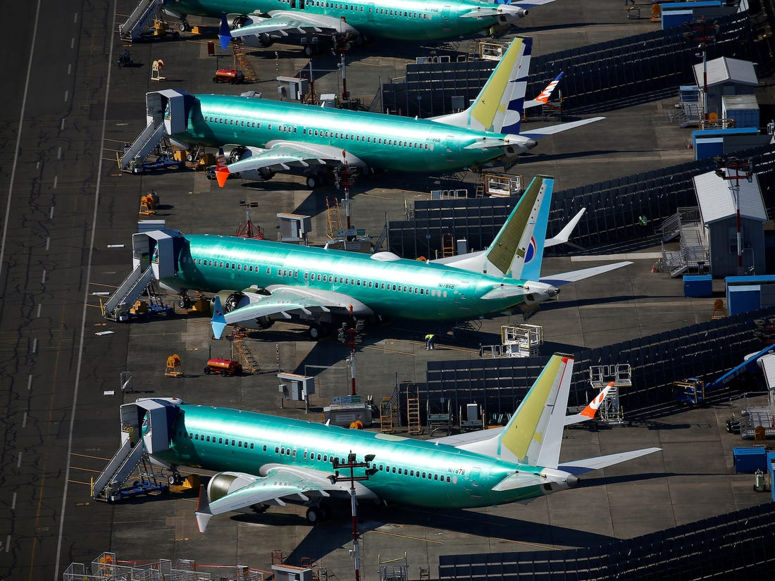 Boeing 737MAX being repaired
