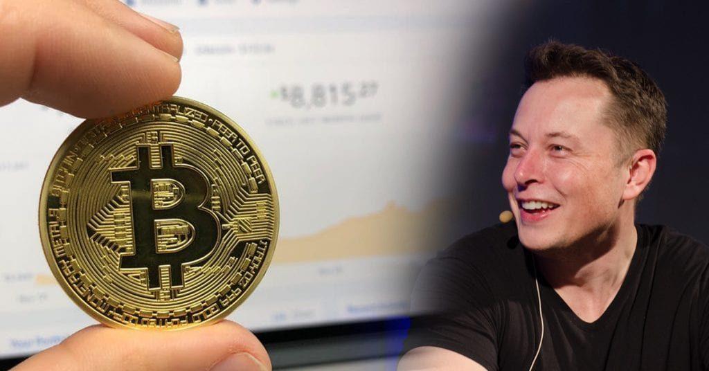 Elon Musk with Bitcoin