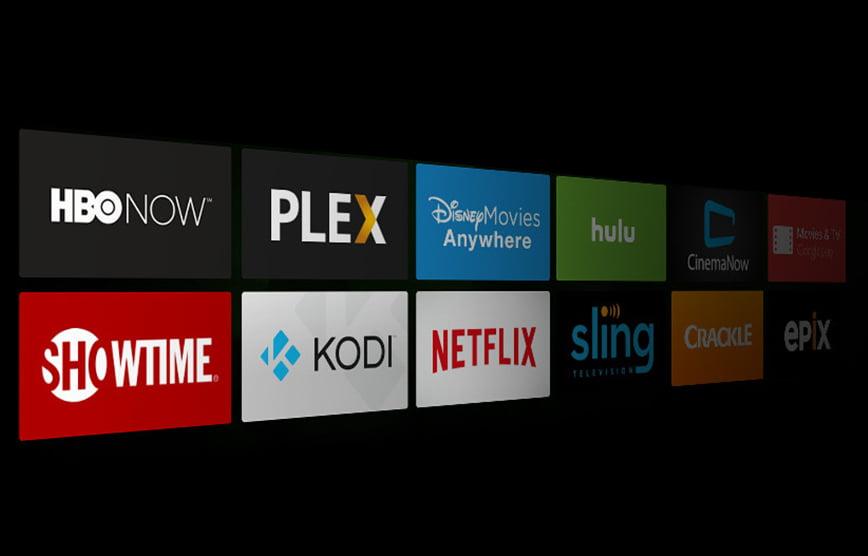 display of movie apps