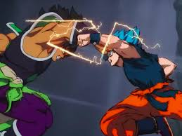 Goku SSJ God Blue vs Broly
