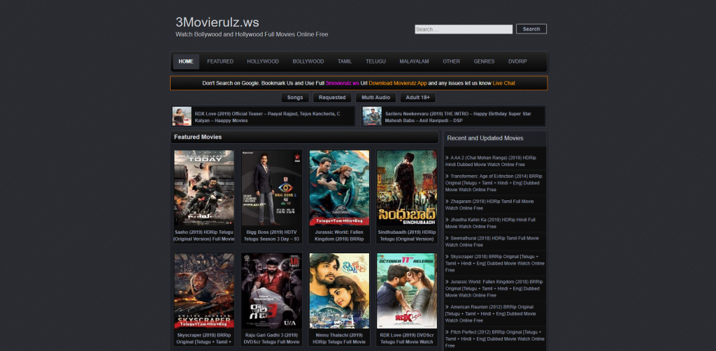 movierulz app homepage