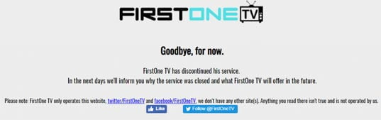 what is displayed on firstonetv website