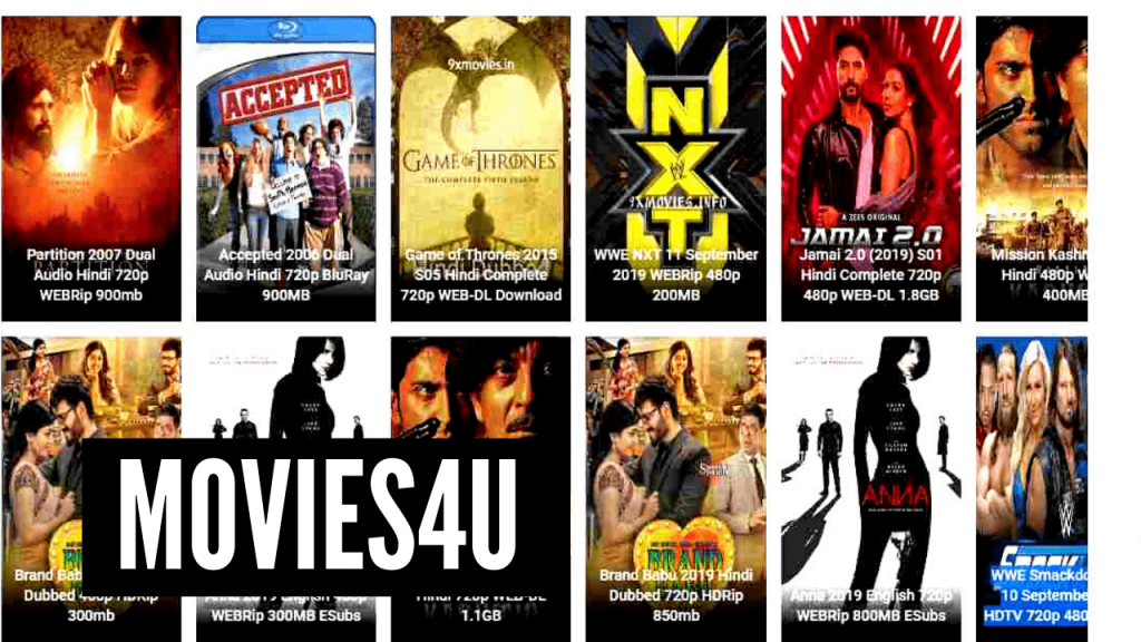 Movies4u homepage