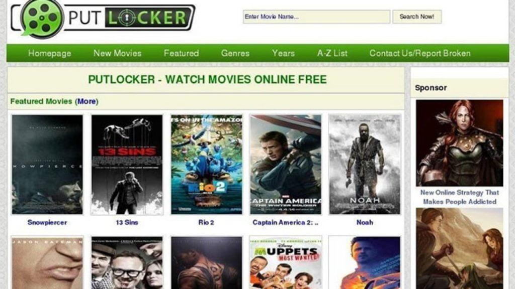 Putlocker homepage
