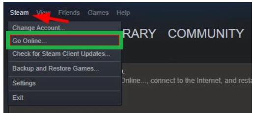 go offline steam download not working