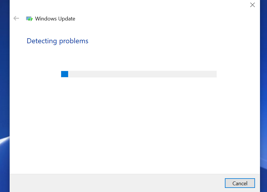 windows update detect problems