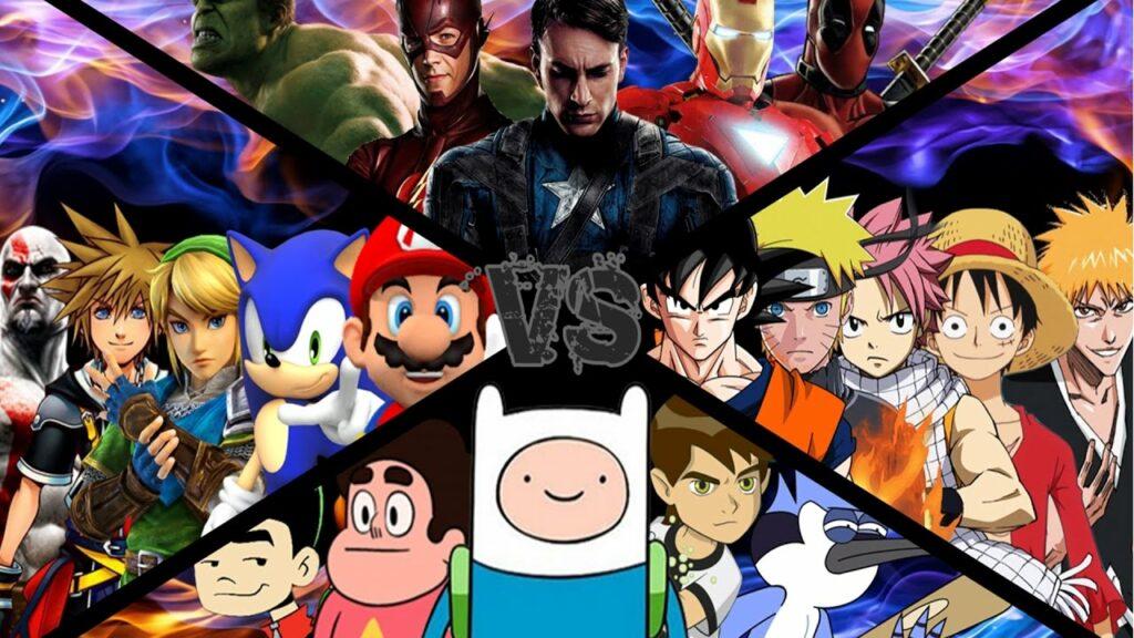 Anime vs Manga vs Cartoon