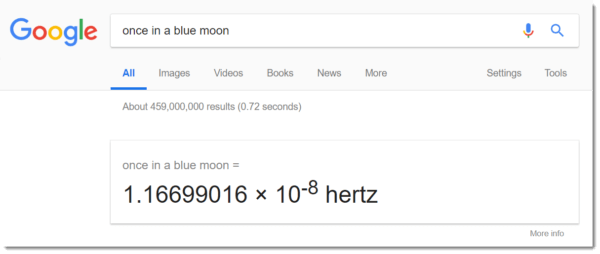 Once In A Blue Moon: Google Easter Egg