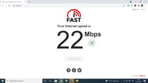 Internet speed test to check if Hulu is working on Apple TV