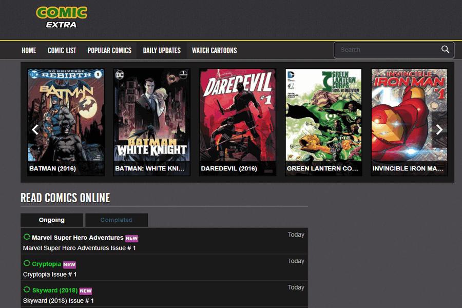 comic extra website