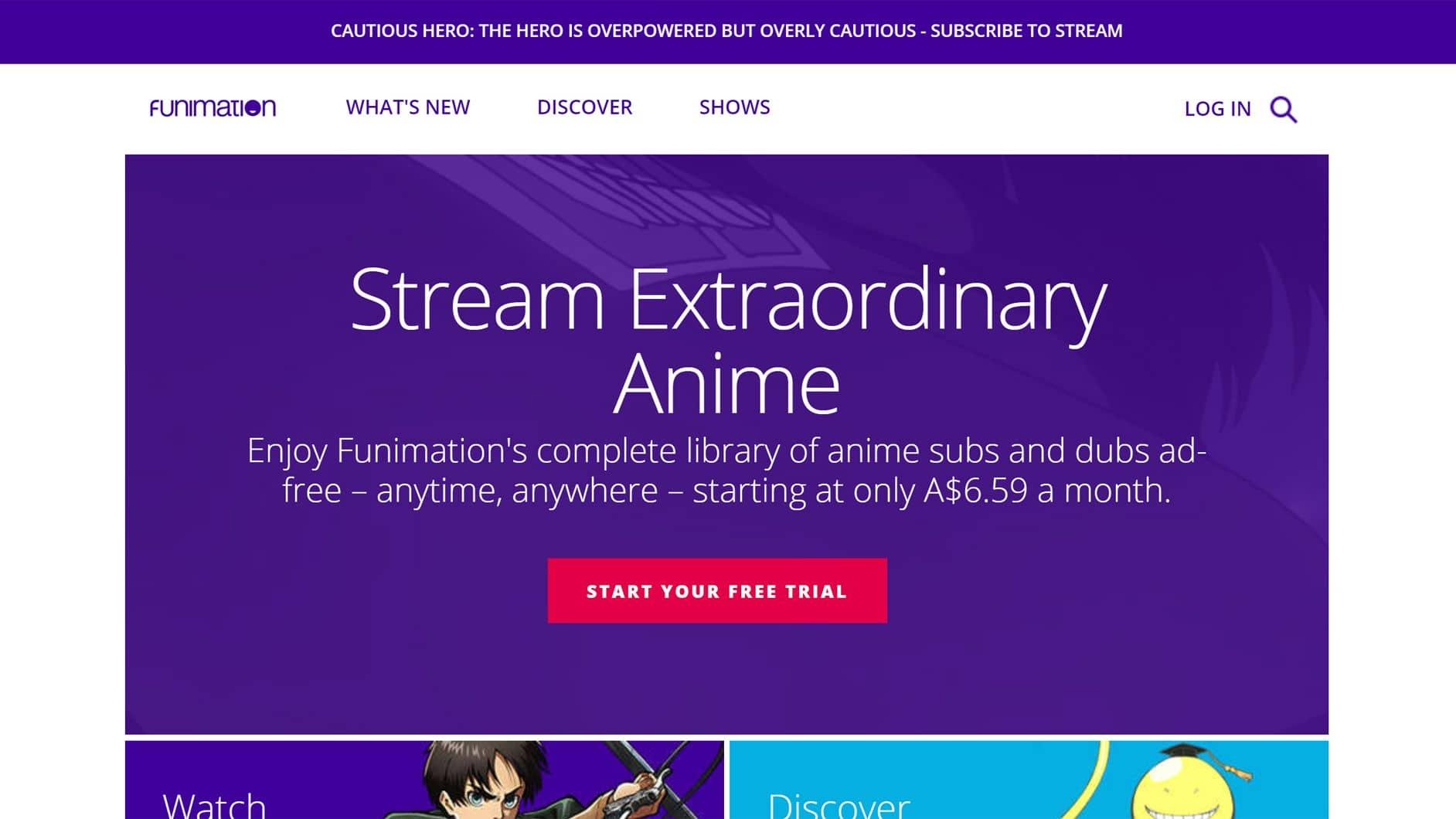 Funimation free trial