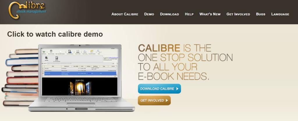 Calibre- An epub reader